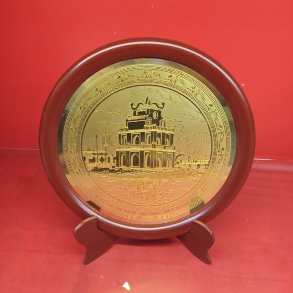 Đĩa đồng lưu niệm Hồ Gươm