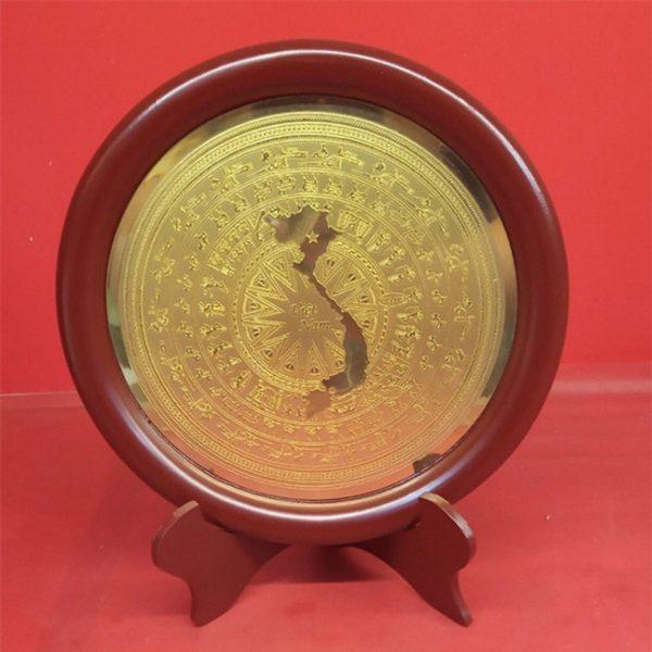 Đĩa đồng lưu niệm Bản đồ Việt Nam