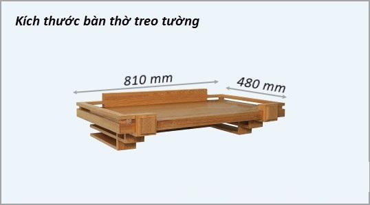 Kích thước bàn thờ treo tường đẹp và chuẩn