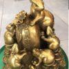 Chuột Ngũ Phúc phong thủy bằng đồng